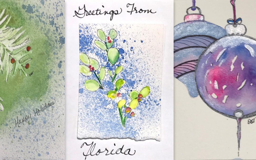 Watercolor Holiday Cards and More