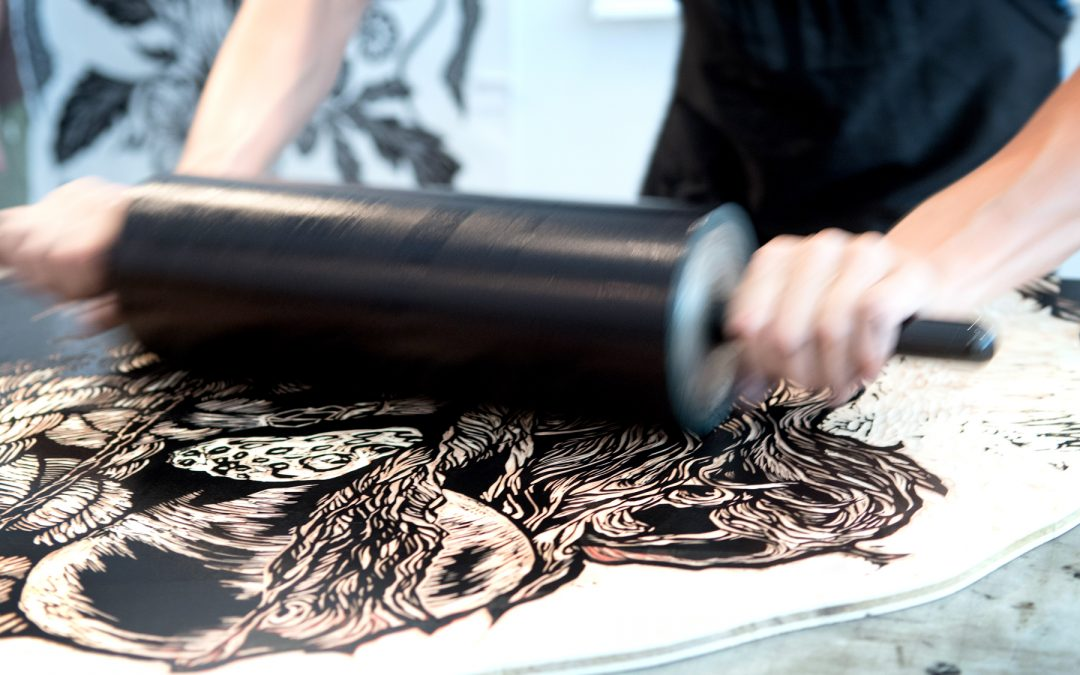 BIG INK Woodblock Printing Event